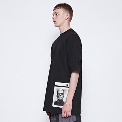 [디바이디그낙] Frankenstein Patchwork T-Shirts BK