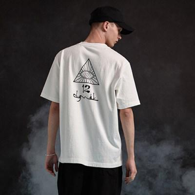 [디바이디그낙] illi Triangle Printing T-Shirts WH
