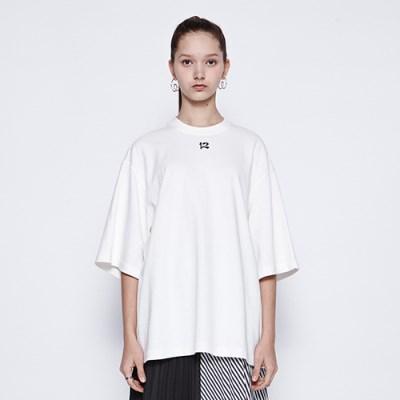 [디바이디그낙] 12 Embroidery T-Shirts WH