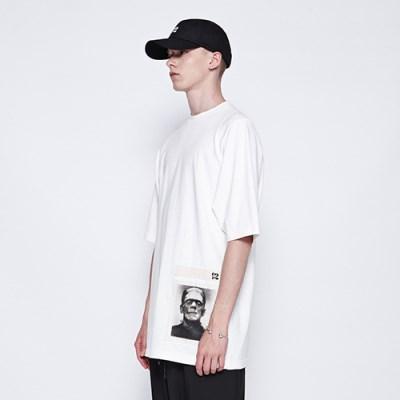 [디바이디그낙] Frankenstein Patchwork T-Shirts WH