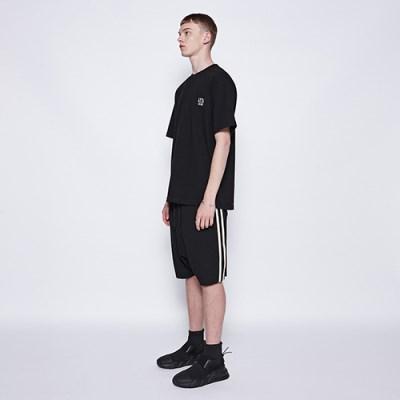 [디바이디그낙] 2 Line Baggy Shorts BK