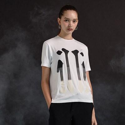 [디바이디그낙] illi Big Print T-Shirts WH