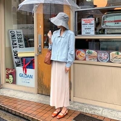 Perfume glossy wrinkle skirt_S_(1303289)