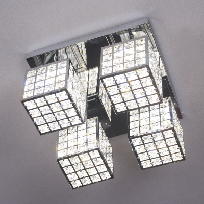 boaz 큐브크라운4등(LED) 방등 거실등 인테리어 조명
