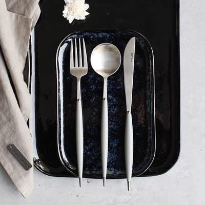 파스텔실버 커트러리 스푼 포크 나이프 - 4color