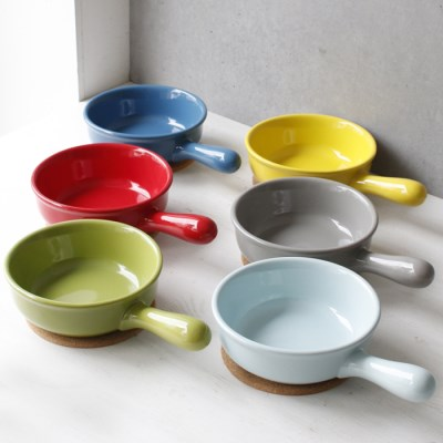손잡이 그릇1P (시리얼볼,라면기,죽그릇) - 6color_(2699609)
