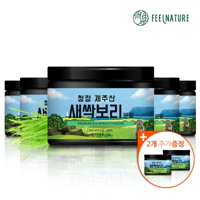 필네이처 청정 제주산 100% 새싹보리분말 가루 70g x5 +2무료