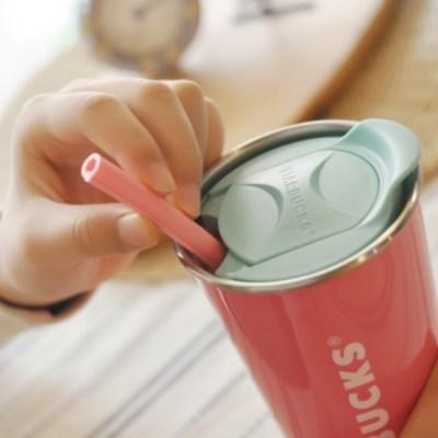 NPE 2019 핑크 개방형 실리콘 빨대 휴대용 다회용 재활용