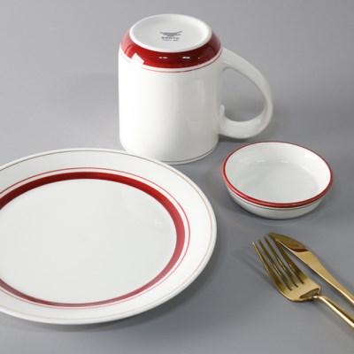 라인 카페 브런치 접시세트 2color