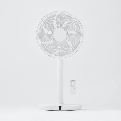 조용한 바람 리모컨 선풍기_화이트