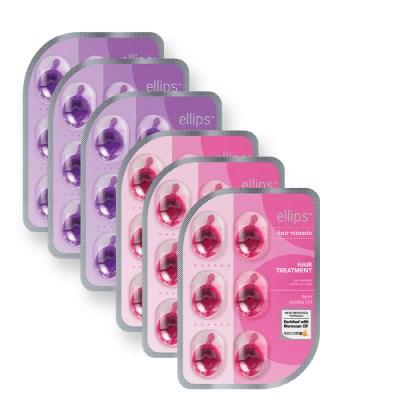 엘립스 발리 헤어에센스 헤어비타민 핑크6ml X 3개 퍼플6ml X 3개