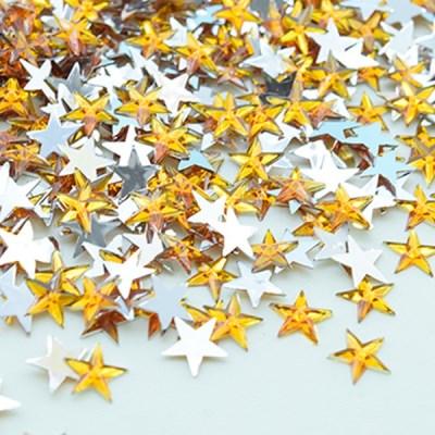 (몽스쿨) DS0049-6 별 큐빅 노랑 1cm(200P)_(1581391)