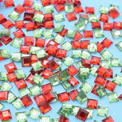 (몽스쿨) DS0047-9 사각네모큐빅 크리스마스컨셉 0.6cm(_(1581384)