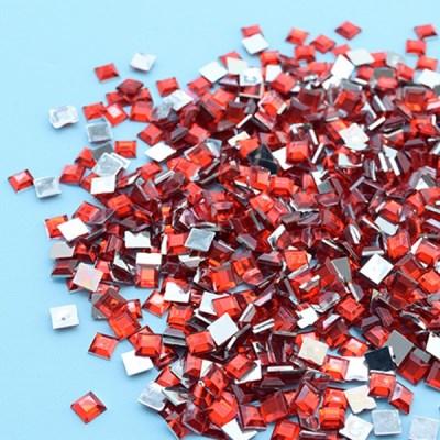 (몽스쿨) DS0047-7 사각네모큐빅 빨강 0.6cm(200P)_(1581382)