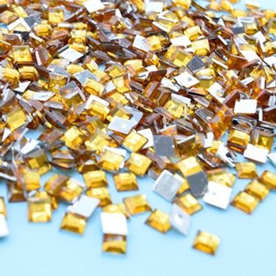 (몽스쿨) DS0047-6 사각네모큐빅 노랑 0.6cm(200P)_(1581381)