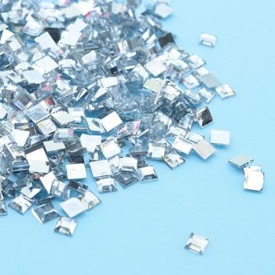 (몽스쿨) DS0047-4 사각네모큐빅 투명색 0.6cm(200P)_(1581379)