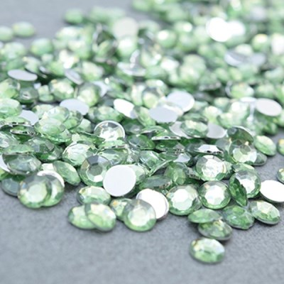 (몽스쿨) DS0046-8 원형큐빅 초록 0.6cm(400P)_(1581373)