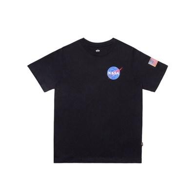 알파인더스트리 나사 반팔 티셔츠 BLACK_(201817931)
