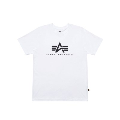 알파인더스트리 베이직 로고 반팔 티셔츠 WHITE_(201817930)
