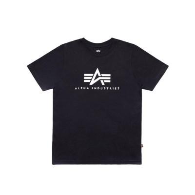 알파인더스트리 베이직 로고 반팔 티셔츠 BLACK_(201817929)