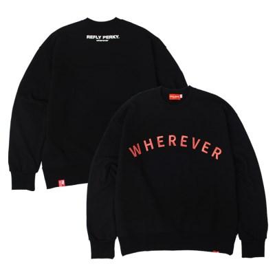 [UNISEX] 웨어에버2 헤비코튼 오버핏 스웻셔츠(Black)