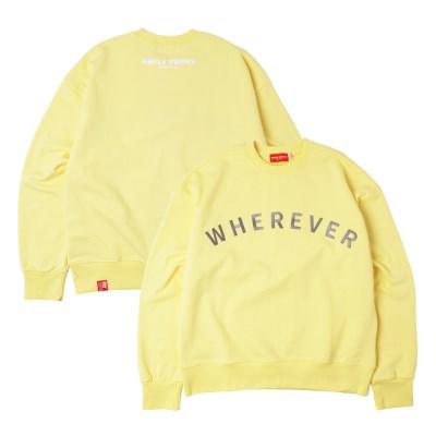 [UNISEX] 웨어에버2 헤비코튼 오버핏 스웻셔츠(Lemon/C)