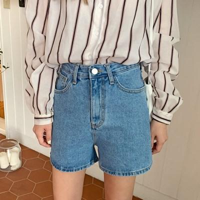 Blue washing denim shorts_B_(1309627)