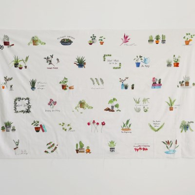 [Fabric] 가드닝 파우치 39컷 린넨 Gardening Pouch 39 Cut Linen