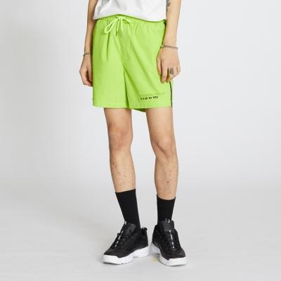 Side Line Nylon Shorts - Neon Yellow