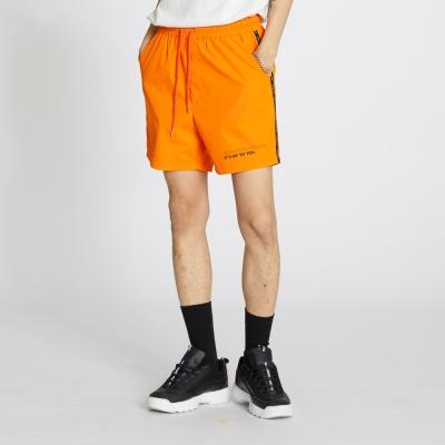 Side Line Nylon Shorts - Neon Orange