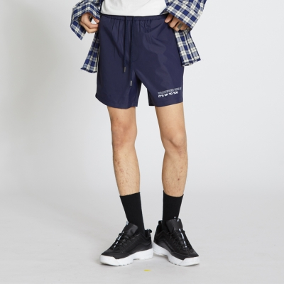 Side Line Nylon Shorts - Navy