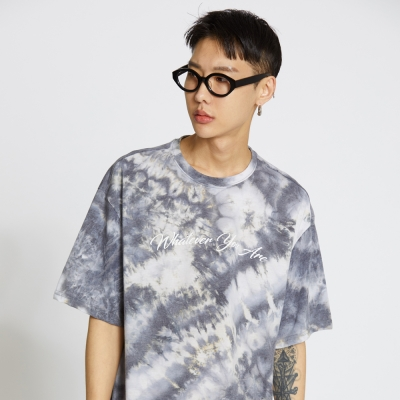 Water Print Tee - Grey