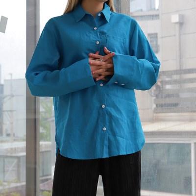 2492 아이 린넨 컬러 셔츠 (5color)