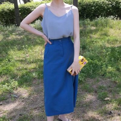 Loni linen skirt(린넨50%)