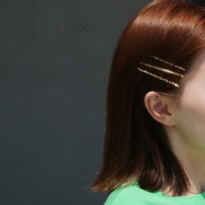 Gold hair pin set