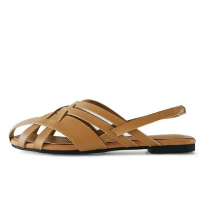 kami et muse Multi cross strap flat sandals _KM19s207