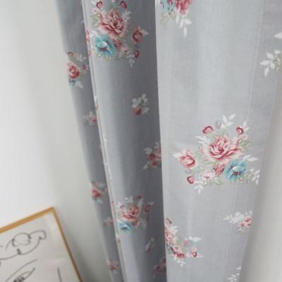 [바이아미] 코지플라워 꽃무늬 작은창 커튼
