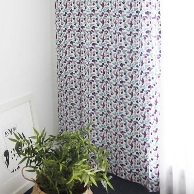 [바이아미] 베리머치 꽃무늬 작은창 커튼