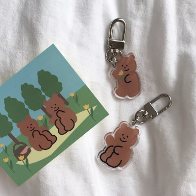 [뮤즈무드] flower bear key ring (키링)