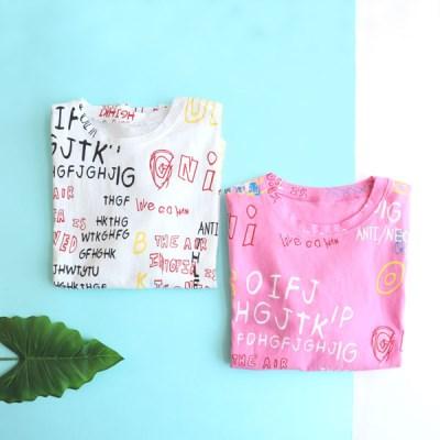 [온라인 전용] 낙서 아동 반팔 티셔츠 IB2EH621U