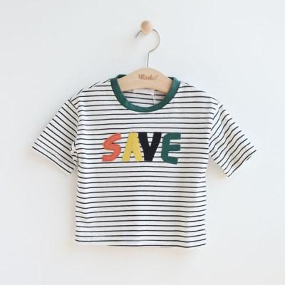 [온라인 전용] SAVE 프린트 아동 반팔 티셔츠 IB2EH626U