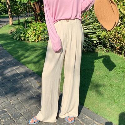 Wide linen pin-tuck pants_S (린넨 30%)_(1318220)