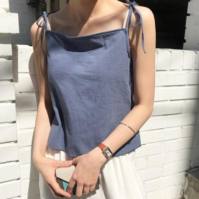 Linen ribbon strap sleeveless_K_(1320288)