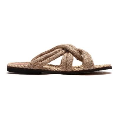 [피어포] Rope Sandal_Brown (W)