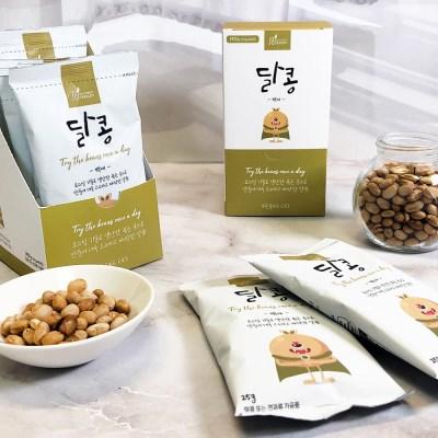 [정선드림] 100% 국산콩 콩스낵 달콩 백태 1BOX (25g x 6봉)