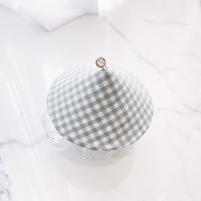 {Cup Cover}민트 체크 컵커버(컵덮개,컵뚜껑)