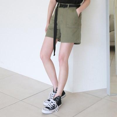 Pocket cotton short pants