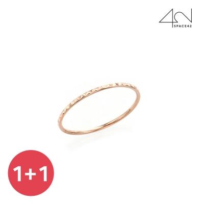 [1+1][스페이스42] 14k 다이아몬드 컷팅 실반지 FD0033R4G_(841554)