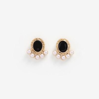 [쥬디앤폴] 리에또 엔틱 크리스탈 진주 포인트 볼 귀걸이 E51099