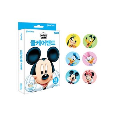 디즈니 미키마우스 글랜큐어 쿨케어밴드 18매입
